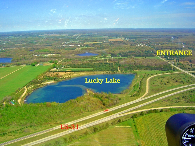 Lucky Lake Aerial View